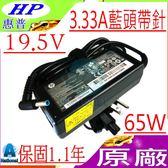 HP 19.5V,3.33A,65W充電器(原廠)-惠普 ENVY Pa-1650-32hk,14-k001,PPP009L-E,14-K020US,14-k027CL, 15-N019AX