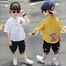 男童夏裝中小童短袖套裝小男孩棉麻夏天衣服兒童悟空卡通兩件套潮 蘿莉新品
