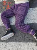 女童燈芯絨褲子加厚秋冬韓版中大童休閒男童棉褲洋氣【奈良優品】