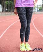 ASICS  亞瑟士 女 印花全長緊身褲RF (黑)  骨盆大腿支撐 強化安定性  XAK564-90  【胖媛的店】