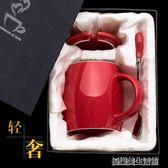 大容量馬克杯帶蓋勺創意韓版女學生情侶喝水杯咖啡杯陶瓷杯子潮流