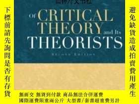 二手書博民逛書店【罕見】2002年 Of Critical Theory And