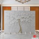 北歐屏風隔斷墻簡約現代家用客廳折疊移動臥室遮擋辦公室裝飾折屏CY 自由角落
