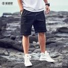 2021新款夏季男士牛仔短褲休閒潮牌五分褲寬鬆直筒中褲外穿 一米陽光