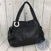 BRAND楓月 Salvatore Ferragamo 黑色 皮革 手提包 女用包 實用款