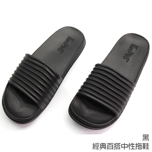 【333家居鞋館】柔軟好踩★經典百搭中性拖鞋-黑色