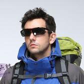 騎行眼鏡 戶外太陽眼鏡 近視運動防風釣登山/盒裝單眼鏡偏光版【韓衣舍】