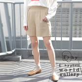 「Summer」鬆緊腰亞麻混紡短褲 - E hyphen world gallery
