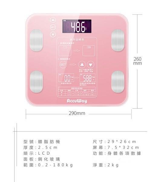 【健康檢測】升級款 180kg 體重計 精準減重減肥秤  體質測試 健康電子秤 【H00100】