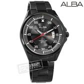 ALBA / VJ42-X268SD.AS9H41X1 / 爵士時尚 藍寶石水晶玻璃 日期視窗 防水100米 不鏽鋼手錶 鍍黑 44mm