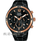 ALBA  IG廣告款 型男計時錶-黑