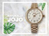 【時間道】NATURALLY JOJO  時尚經典羅馬刻仕女腕錶 / 白格紋面玫瑰金帶(JO96911-80R)免運費