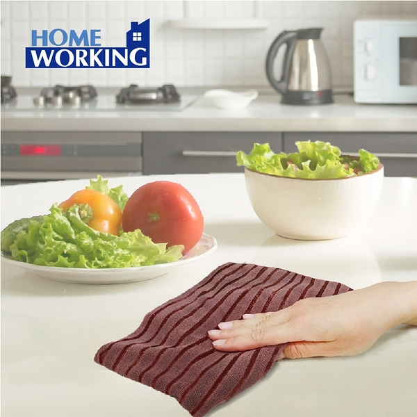 HOME WORKING特效除污雙織抹布(3入)