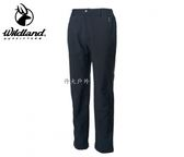 丹大戶外用品 荒野【Wildland】男SOFTSHELL防風保暖長褲 型號 0A62318-54 黑色