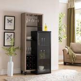 紅酒櫃 歐式客廳現代簡約多功能儲物櫃靠墻餐邊櫃子家用 FF699【彩虹之家】