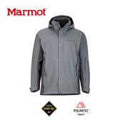 【速捷戶外】美國 Marmot 土撥鼠 31500  男Goretex 兩件式防水透氣外套(岩石灰),登山雨衣,防水外套