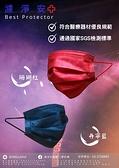 【濾淨安】成人醫用口罩(台灣製造/雙鋼印//50入) 丹寧藍/珊瑚紅