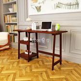 兒童書桌 包郵美式實木電腦桌辦公桌 家用電腦桌寫字臺兒童學習桌臥室書桌 珍妮寶貝