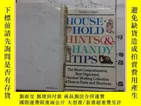 二手書博民逛書店house罕見hold hints &handy tipsY16