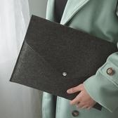 羊毛氈文件夾A4文件袋高檔辦公包公文包收納包袋檔案袋ipad手拿包 快速出貨