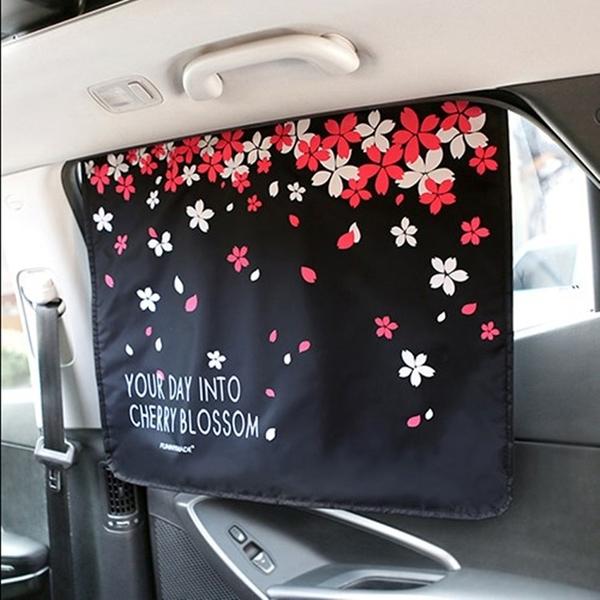 《WEEKEIGHT》車用免施工好拆裝韓版磁性吸附可褶疊遮陽布(3層布料)