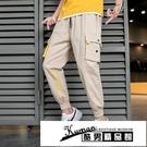 工裝褲 YH秋季潮牌休閒工裝褲男寬鬆直筒九分褲子韓版潮流學生款2901 酷男
