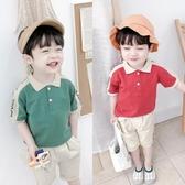 男女寶寶夏季薄款短袖兒童翻領休閒T恤男童上衣polo衫潮