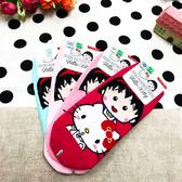 【KP】22-26cm 台灣製 Hello Kitty 櫻桃小丸子 襪子 成人襪 直版襪 卡通襪 淺粉 粉紅 桃紅 綠