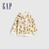 Gap女幼童 Logo波點印花連帽外套 619751-豹紋