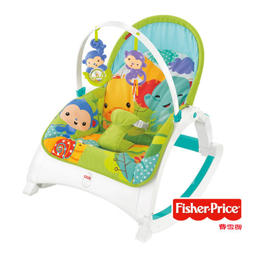 【狂降】Fisher-Price 費雪 熱帶雨林多功能輕便躺椅【佳兒園婦幼館】