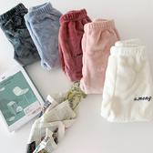 兒童長褲 暖暖褲百搭毛絨舒適長褲