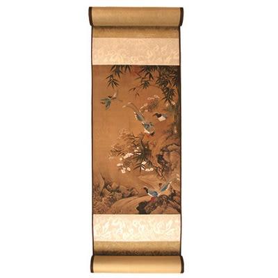 【A Shop】國立故宮博物院授權複製畫小捲軸- 蕭瀜 畫花鳥