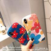 手機殼-泫雅花朵蘋果x手機殼iphone xs max防摔 提拉米蘇