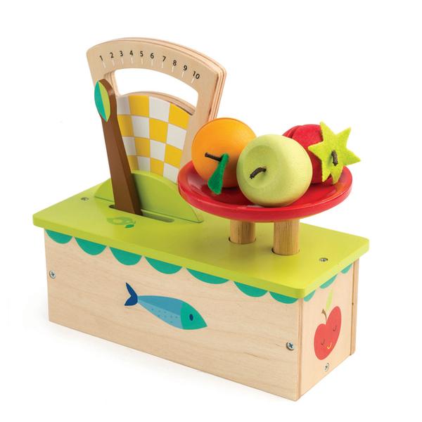 【美國Tender Leaf Toys】新鮮水果小磅秤(市場家家酒系列)