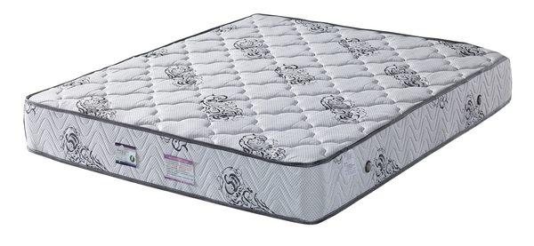 【森可家居】5 尺二線立體舒柔布硬式獨立筒床墊 7JF104-1 雙人床