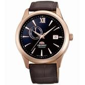 【台南 時代鐘錶 ORIENT】東方錶 Classic系列經典日期機械錶 FAL00004B 皮帶 玫瑰金/咖啡 43mm