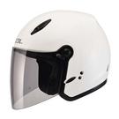 【東門城】SOL 27Y 素色(白) 半罩式安全帽 女生帽款