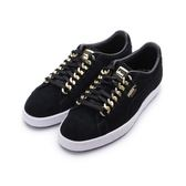 PUMA SUEDE CLASSIC X CHAIN 復古鎖鏈板鞋 黑金 367391-03 女鞋