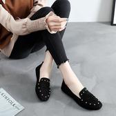 豆豆鞋春季老北京布鞋女鞋平跟平底單鞋休閒工作鞋孕婦媽媽鞋豆豆鞋子女 JUST M