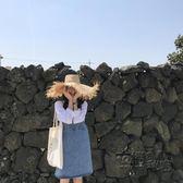吊帶牛仔裙[ELINASEA]小海推薦 夏日感基礎百搭寬鬆套頭吊帶牛仔洋裝女 衣櫥秘密