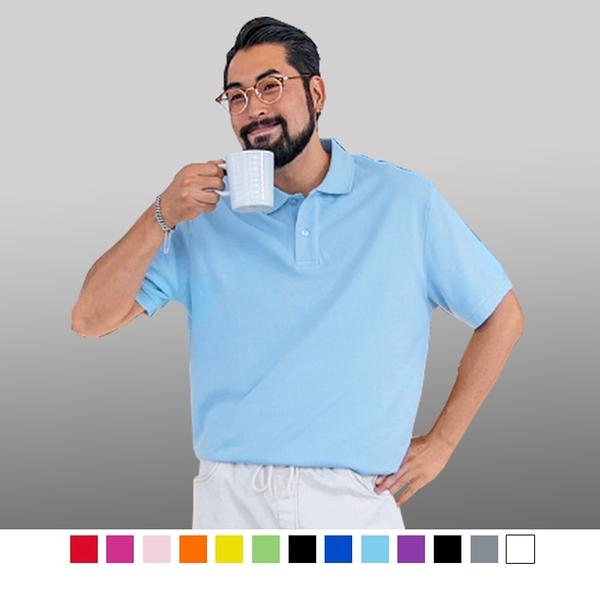 【男人幫】P1568*透氣速乾【吸溼排汗素面短袖POLO衫】涼感短袖polo衫涼爽舒適涼感衣