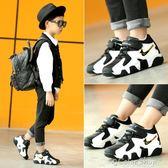 童鞋運動鞋童鞋男童鞋子新款秋冬季休閒兒童運動鞋加絨加厚小男孩二棉鞋  color shop