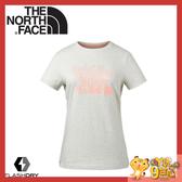 【The North Face 女 FlashDry排汗短袖T恤《乳白》】3CJC/短袖上衣/運動短袖/T恤