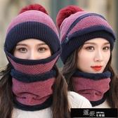 防風帽 冬季騎行防寒面罩女電動車擋風帽兒童護臉圍脖頸護耳口罩保暖頭套 免運快出
