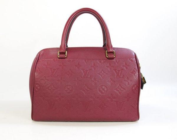 【巴黎站二手名牌專賣店】*現貨*LV 路易威登 真品*M43262 紫紅色壓紋 SPEEDY25 手提/肩/斜背包
