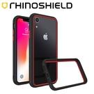 犀牛盾 iPhone XR CrashGuard NX 防摔邊框手機殼 - 黑/紅 撞色款