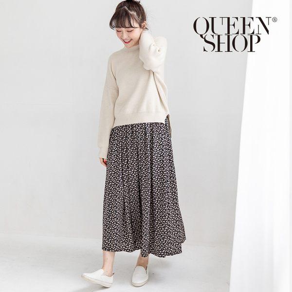 Queen Shop【03020497】滿版碎花雪紡長裙 兩色售*現+預*