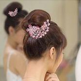 新娘盤多齒排梳水鑽發簪發卡頭飾發夾PLL3258【男人與流行】