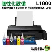 【個性化轉印設備 韓國熱昇華墨水】EPSON L1800 A3 原廠連續供墨印表機