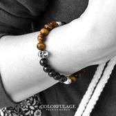 手環  骷髏串珠造型手鍊 復古瑪瑙獨特神秘感設計手鍊  顆顆色澤亮光【NA310】時尚有型